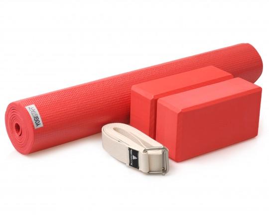 Yoga-Set Kick-It - Two (Yoga mat + 2x yoga block + yoga belt)