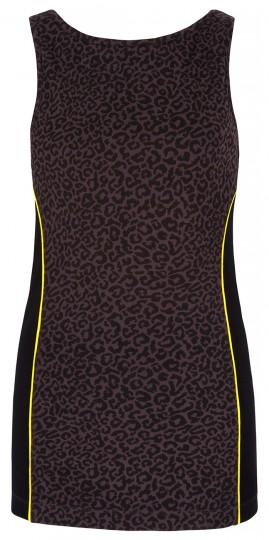 Yoga-Tank-Top mit Bra - leopard