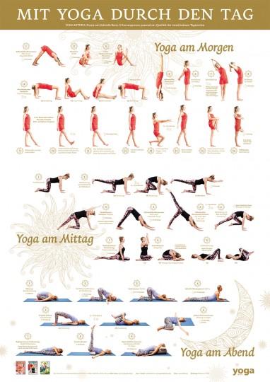 """""""Mit Yoga durch den Tag"""" Poster von Yoga Aktuell"""