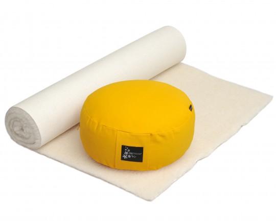 Yoga-Set Comfort Edition - Meditation natur 75 x 200 cm