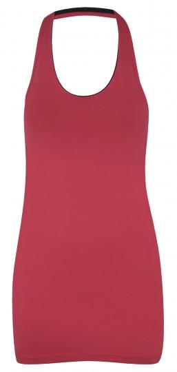 Halterneck top with bra, watermelon top/slate bra