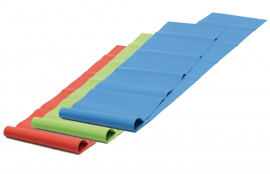 Pilates resistance band, latex-free - soft, red