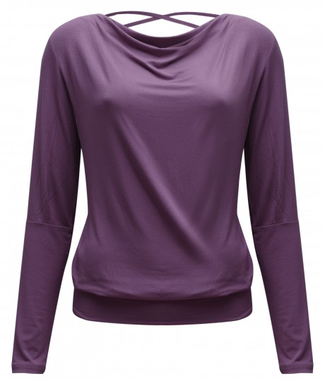 "Yoga-Longsleeve flowing shakti ""ala"" – elderberry"