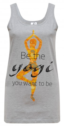 "Yoga-Tank-Top ""Yogi"" - grey"