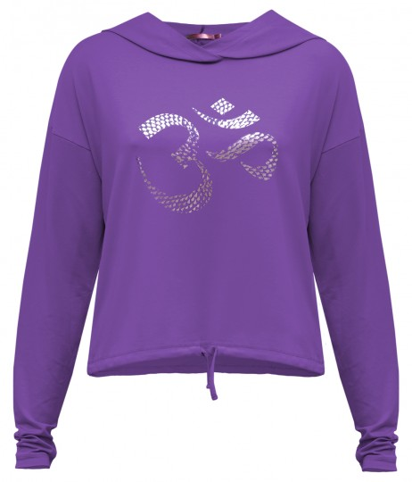 "Yoga-Hoodie ""Shiva"" - purple"
