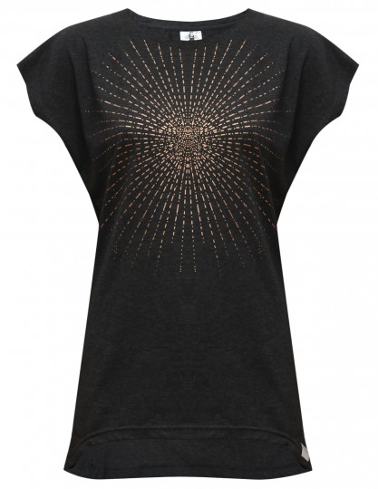 """Yoga-T-Shirt """"Batwing sunray"""" - anthracite/copper"""