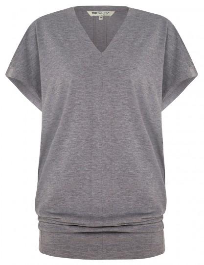 """Yoga-T-Shirt """"Freedom"""" - pale grey marl"""