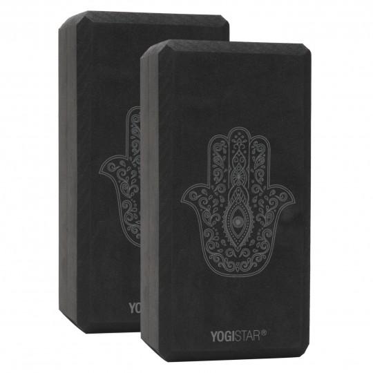 Yogablock yogiblock® basic - art collection - hand of fatima - zen black - 2er-Set