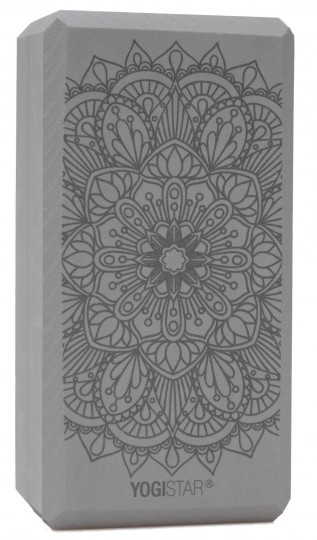 Yogablock yogiblock® basic - art collection - lotus mandala - graphite