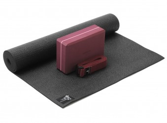 Yoga-Set kick it - one (Yogamatte + Yogablock + Yogagurt) zen (yogiblock big)