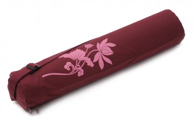 Yogatasche basic - zip - cotton - art collection - 65 cm lotus flower bordeaux