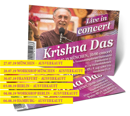Krishna Das Ticket - Peace of My Heart Tour Deutschland 2019
