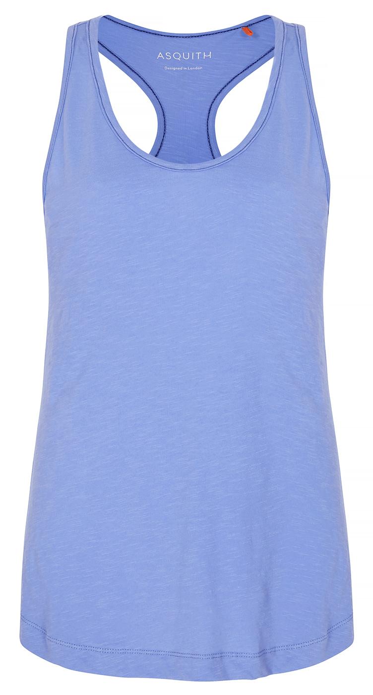 """Yoga-Tank-Top """"Warrior Racer"""" - ice blue & denim"""