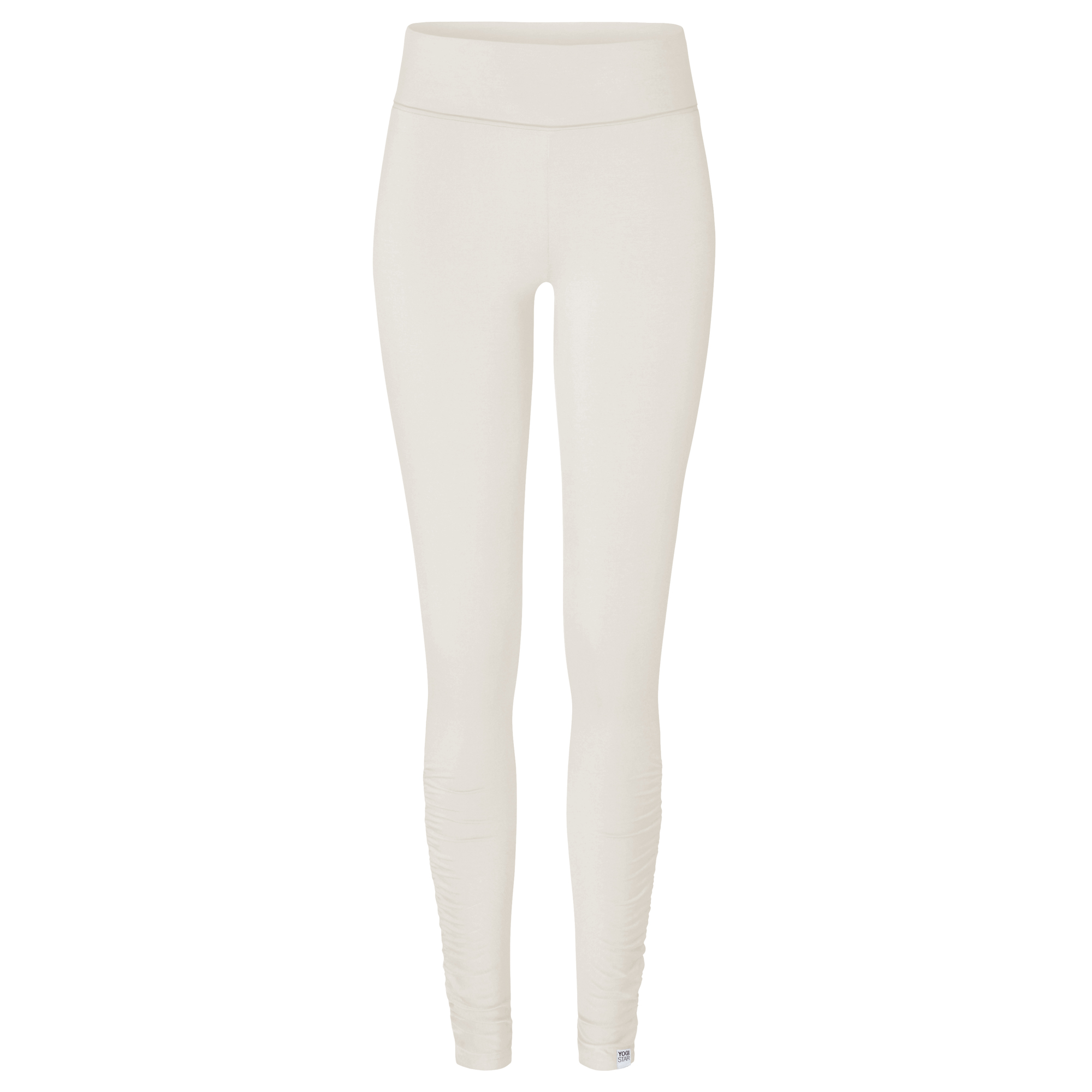 "Yoga-Leggings rolldown ""ala"" - ivory"
