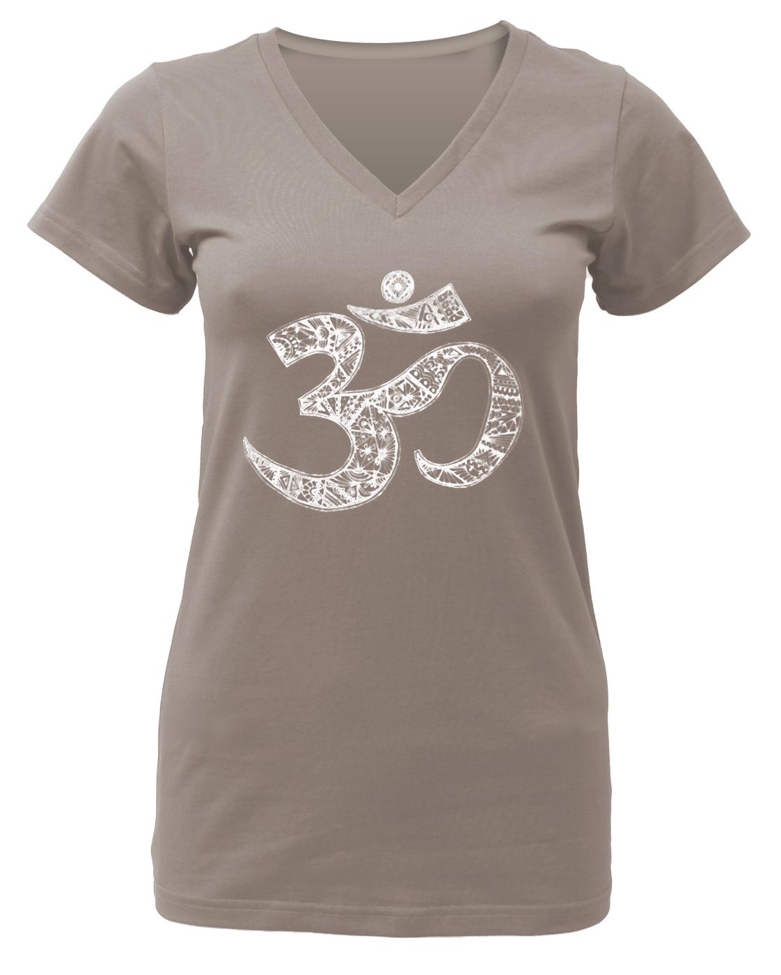 """Yogi-T-Shirt """"OM"""" - taupe"""