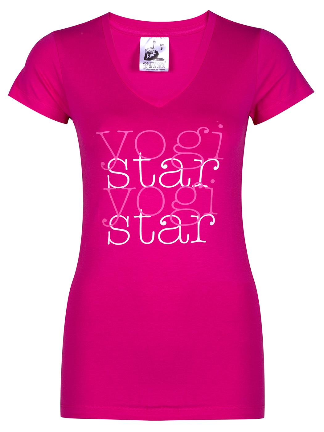 """Yogi T-shirt """"yogistar"""" – pink"""