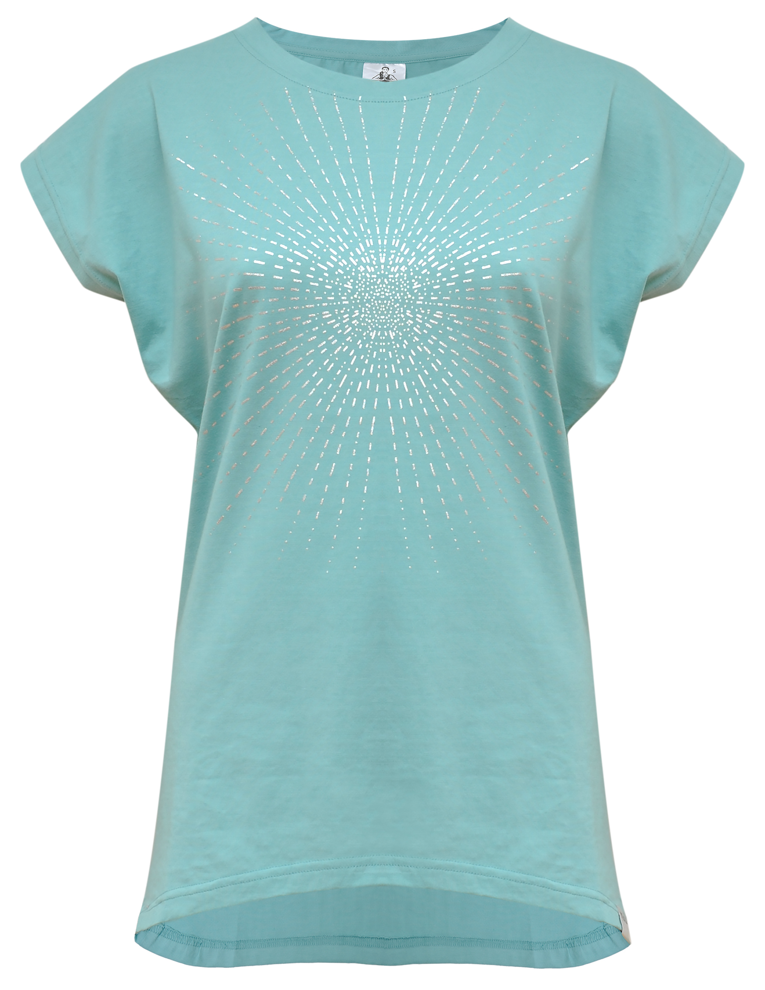 "Yoga-T-Shirt ""Batwing sunray"" - mint/silver"