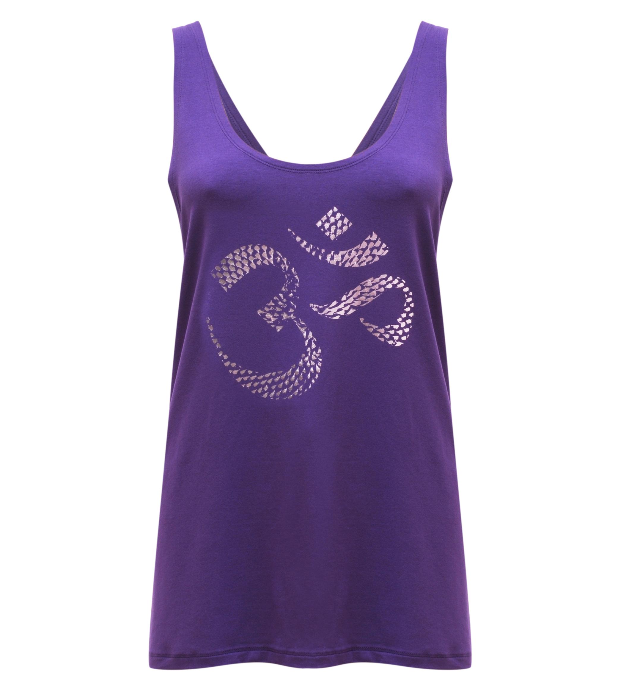 "Yoga-Tank-Top ""OM"" - purple"