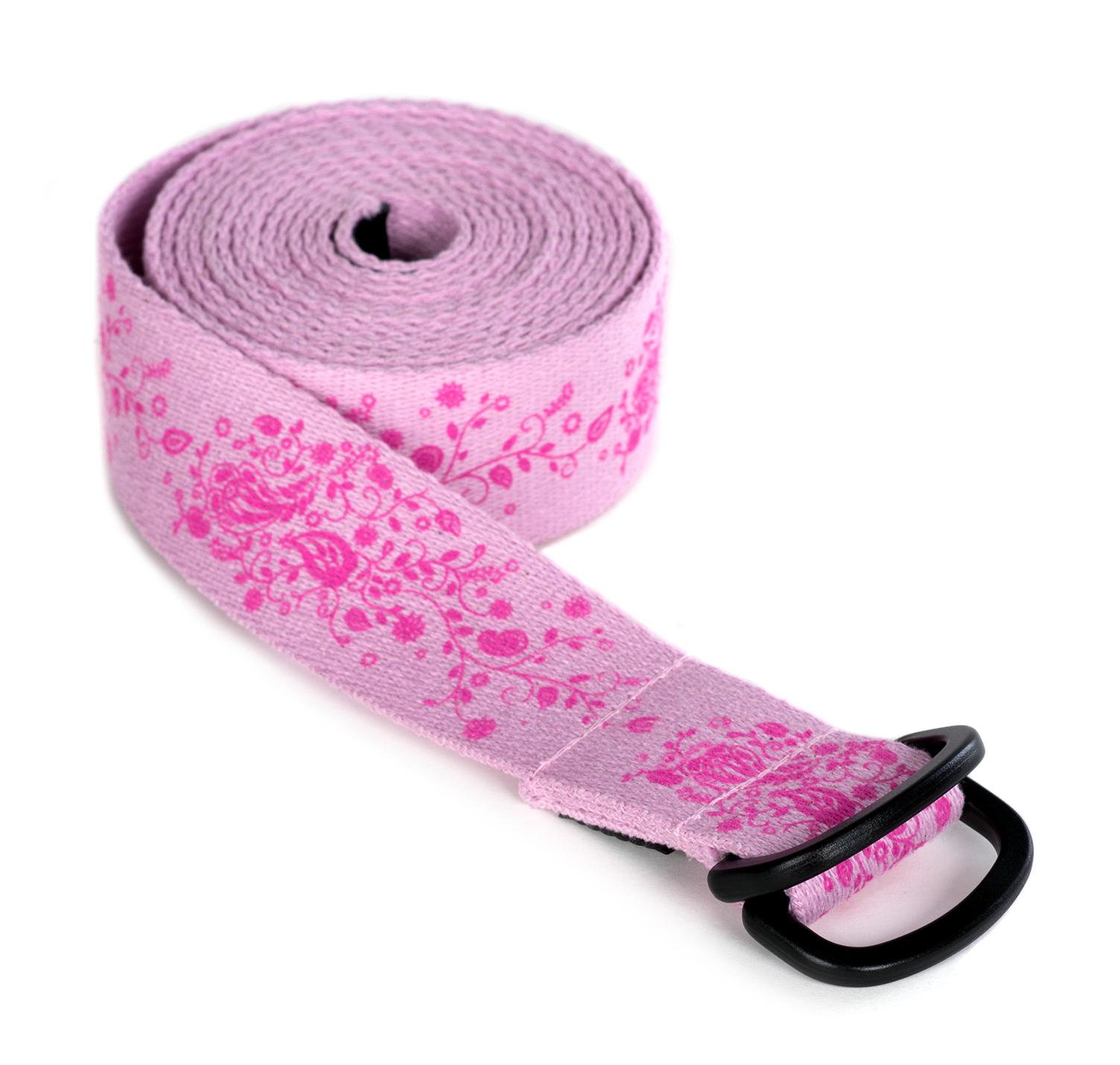 Yoga belt yogibelt 'Indian flower', MB - rose
