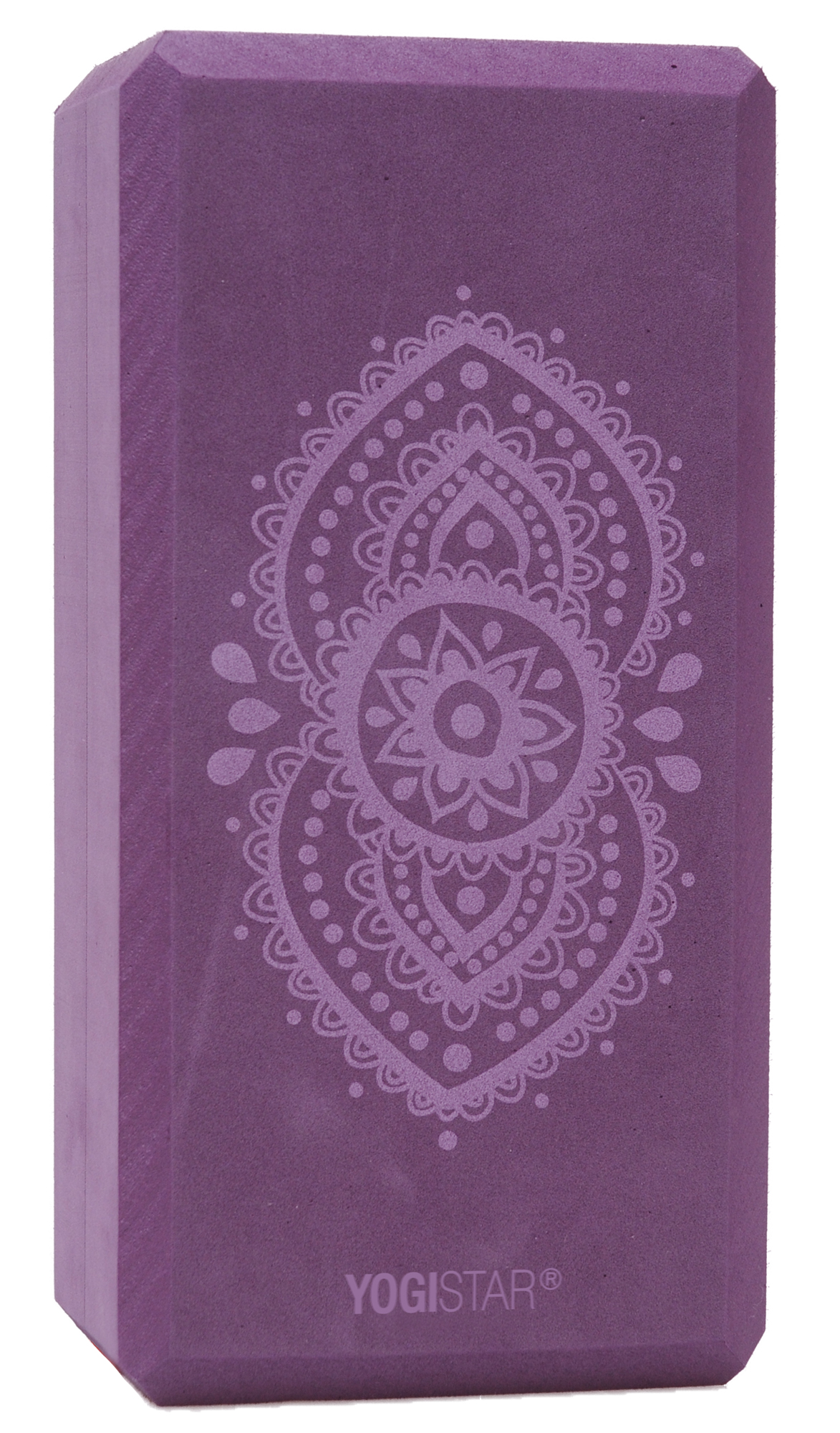 Yogablock yogiblock® basic - art collection - ajna chakra - aubergine