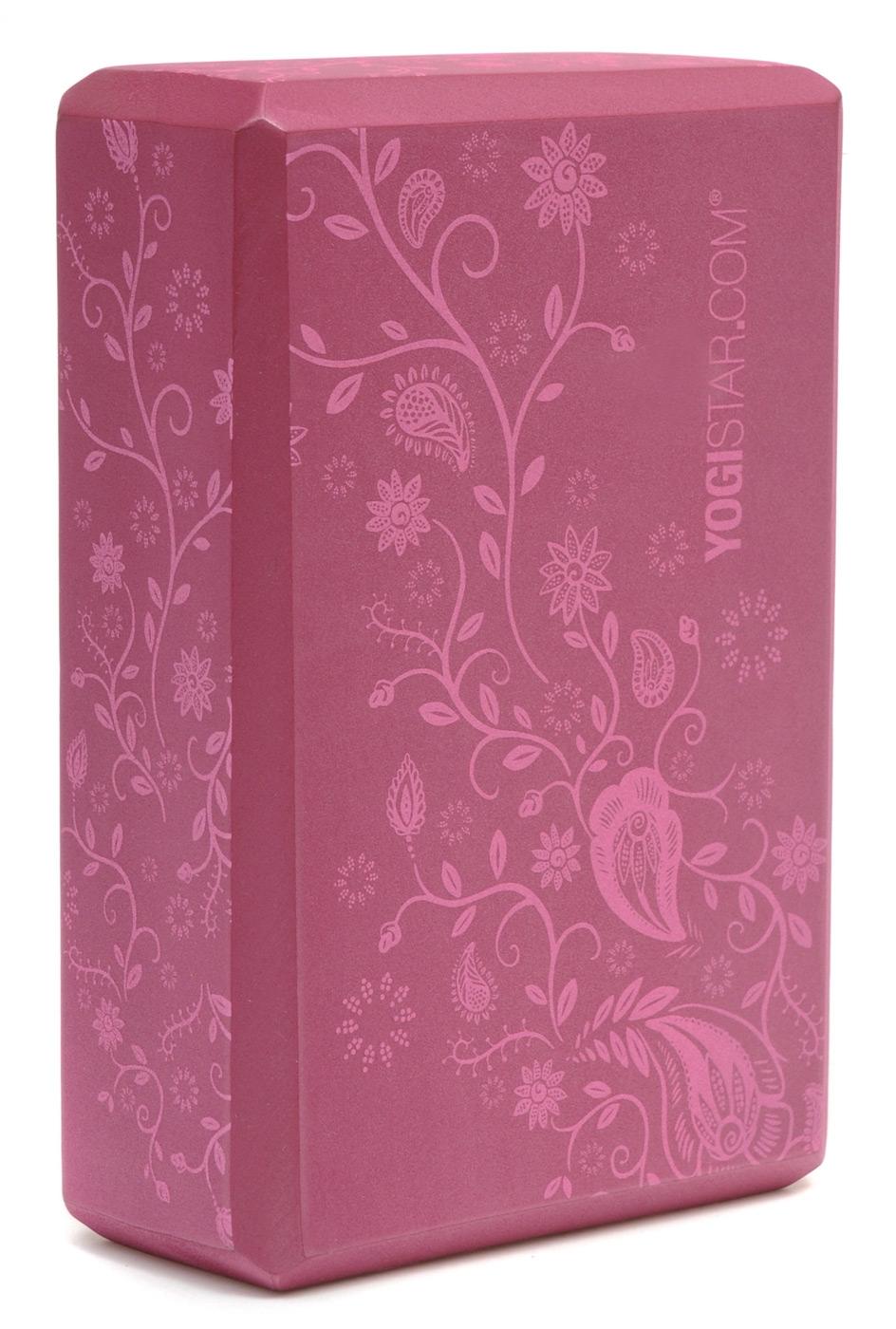 Yoga Block Indian Flower Wine Red Buy Online At Yogistar Com Yoga Equipment Yoga