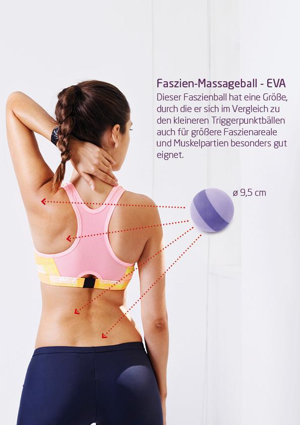 Faszien-Massageball - flieder-violett - EVA - 9cm
