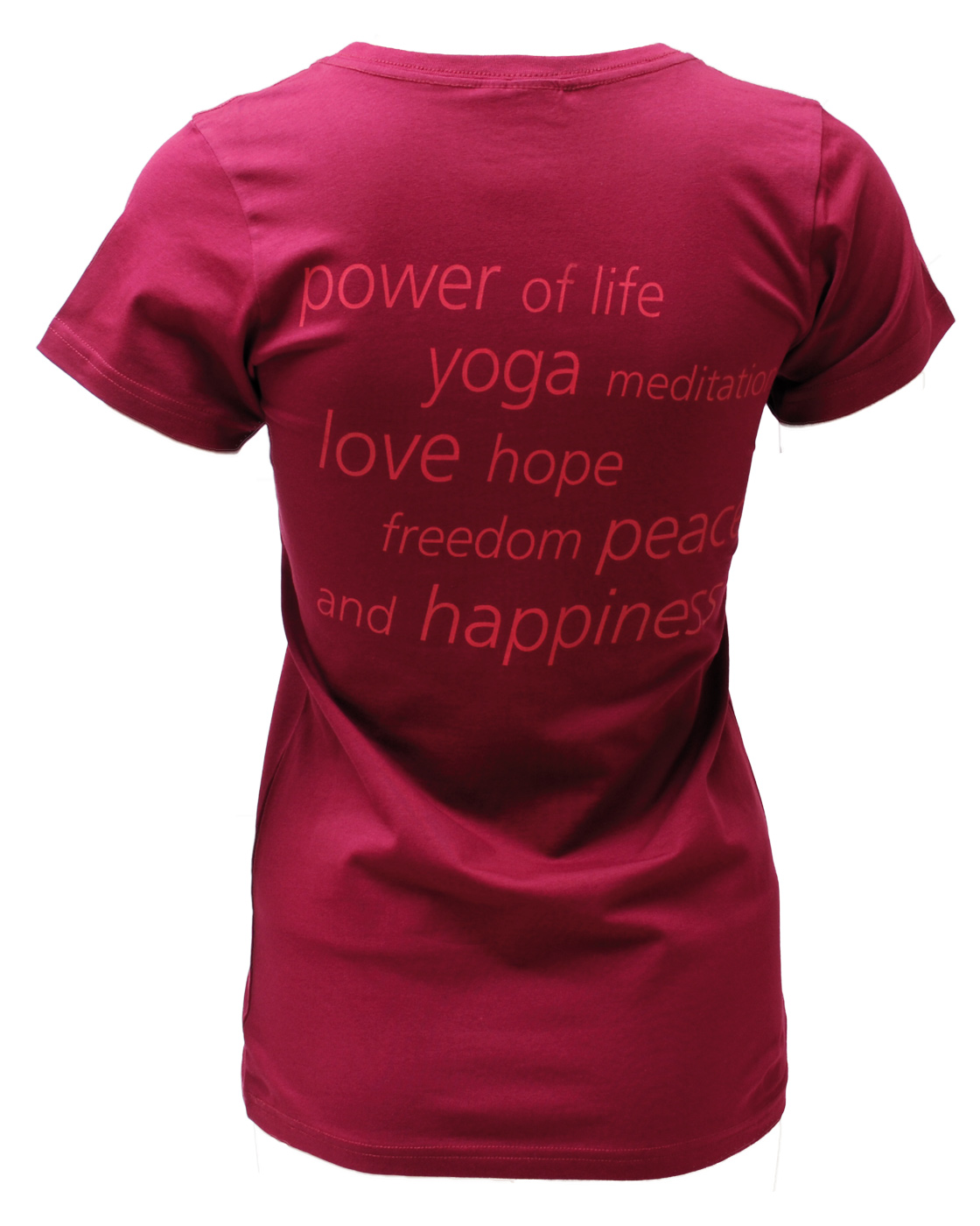 "Yogi T-Shirt ""Flower of Life"" - bordeaux"