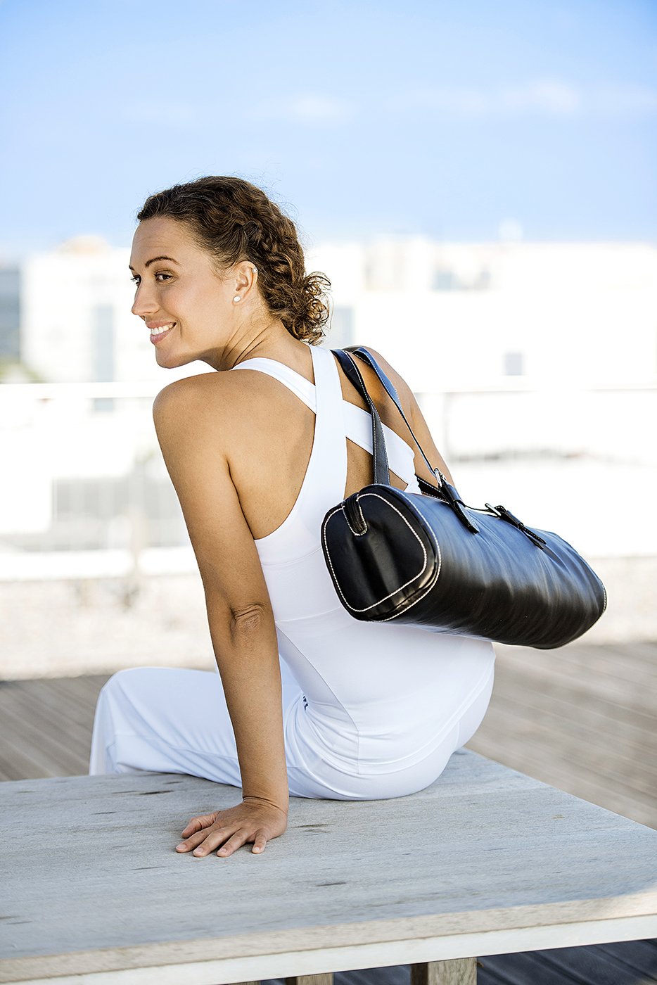 Yoga carrybag fashion - zip - leather - 62 cm