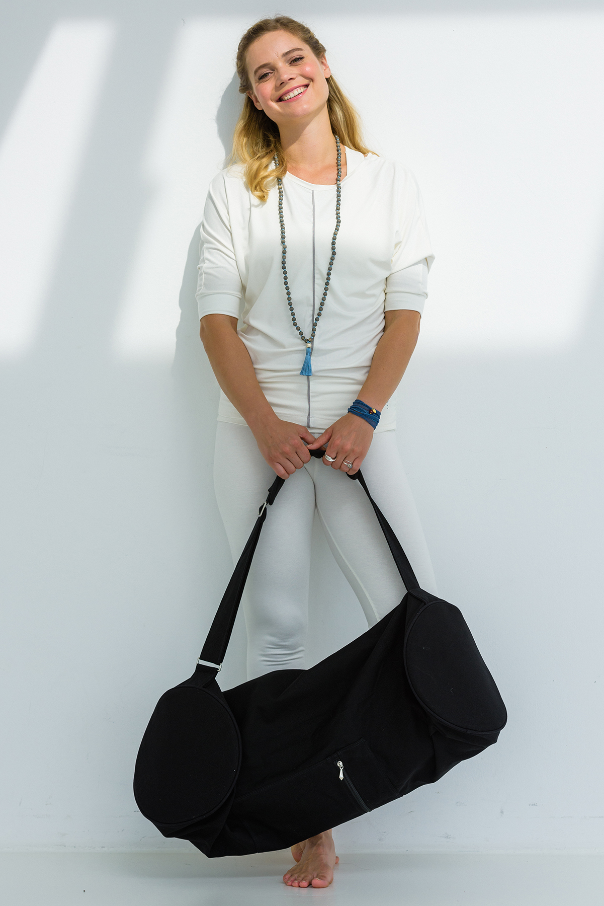 Yoga carrybag basic - zip - extra big - cotton - 80 cm