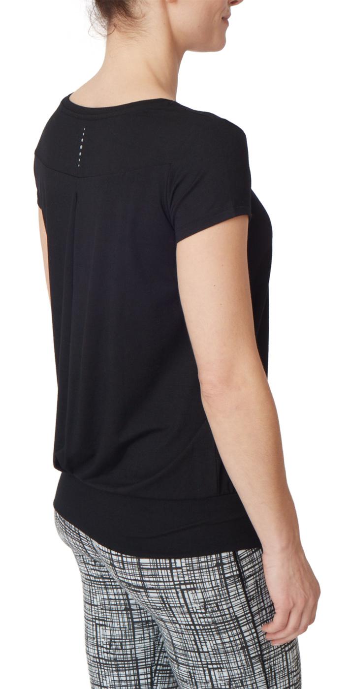 "Yoga-T-Shirt ""Smooth you"" - jet black"