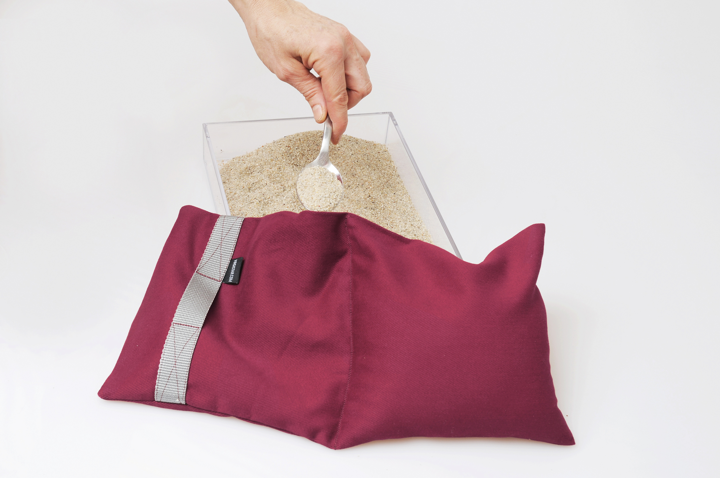 Yoga sandbag balanced