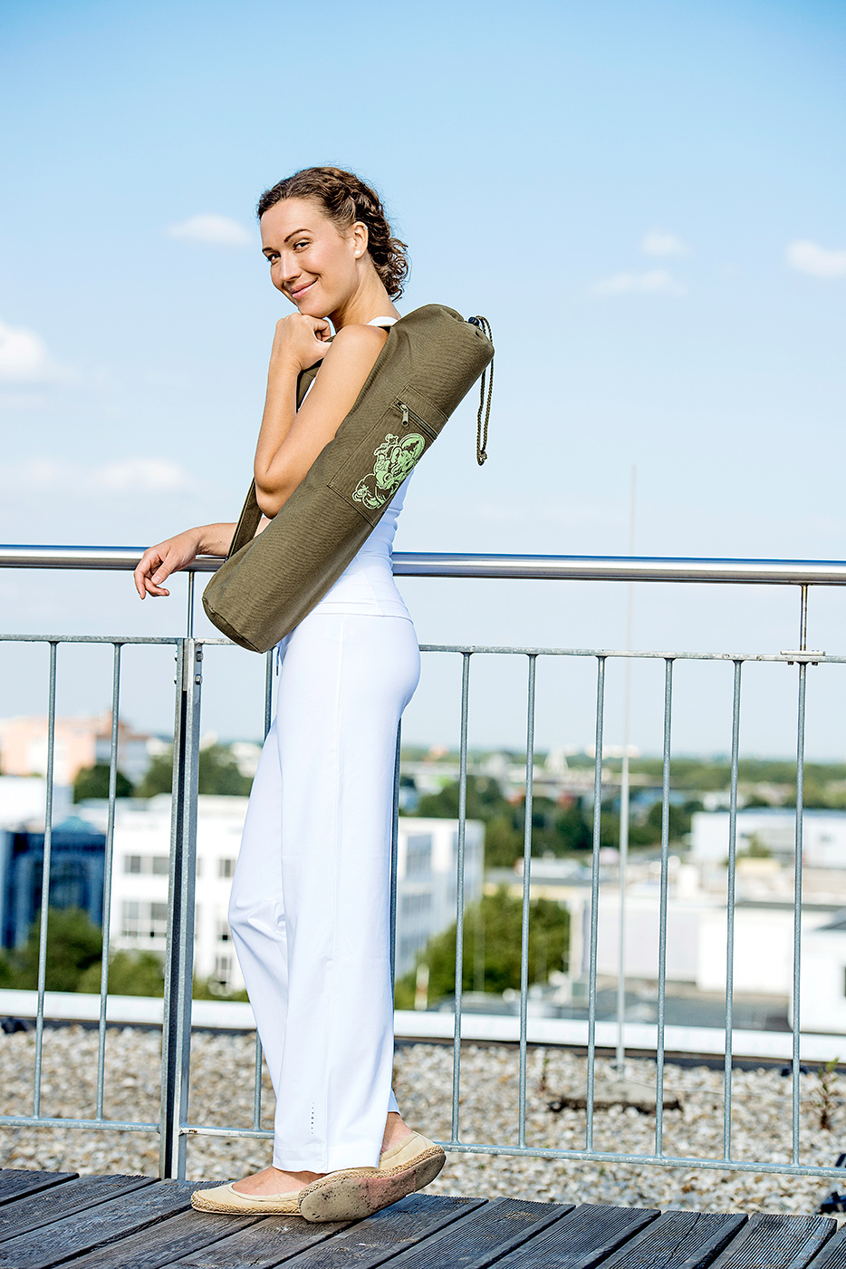 Yoga carrybag basic - cotton - art collection - 65 cm