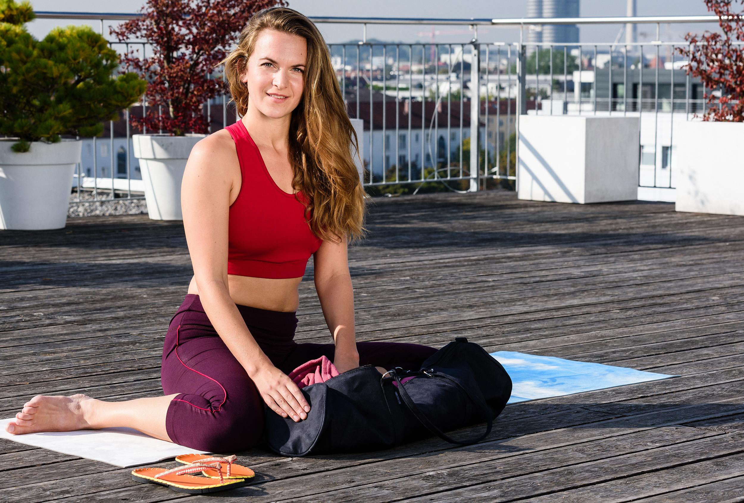 Yoga carrybag style - zip - velour - 69 cm