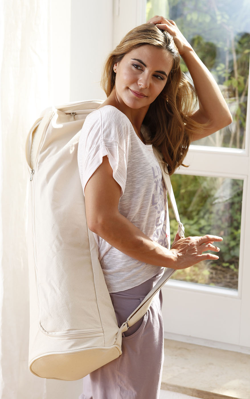 Yoga carrybag basic - zip - extra big - cotton - 109 cm
