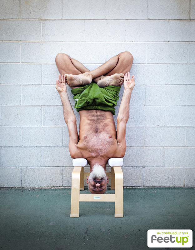 Feetup 174 Headstand Stool Chocolate Buy Online At Yogistar