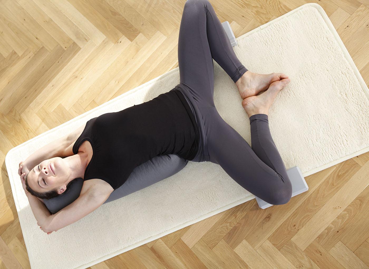 Yogamatte yogimat® natur - Schurwolle - umsäumt